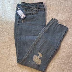 Medium Wash Distressed High Rise Skinny Jeans NWT